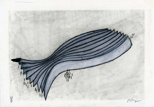 Michele De Lucchi, Pesce, 2018, matita su carta cm 14,8x21