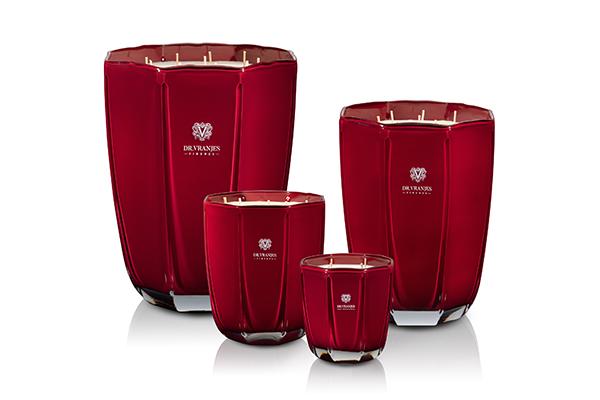 """Candele è la nuova collezione di """"arredi olfattivi"""" di alta profumeria di Dr.Vranjes Firenze. Il disegno dei vasi in vetro cita la Cupola del Brunelleschi"""