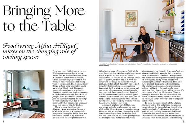 La food writer brittanica Mina Holland a Crofton Park, nel sud di Londra, riflette sul ruolo della cucina e sulla sua evoluzione  (foto <em>Kitchen Living</em>, Gestalten 2019)