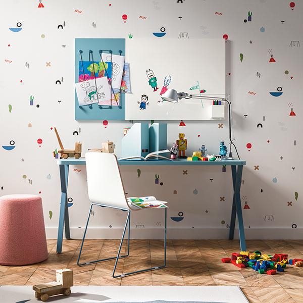 """Una proposta <a href=""""http://nidi.it/it"""">Nidi</a> per <a href=""""https://design.repubblica.it/2018/08/27/langolo-studio-per-bambini/#1"""">l'angolo studio dei più piccoli</a>. Tutti i colori sono ispirati al mondo della natura"""