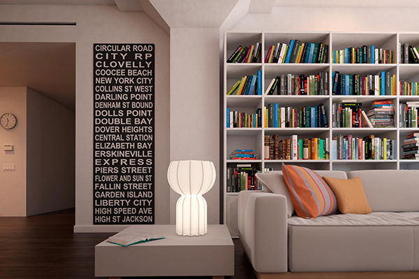 """La lampada da terra <em>Cucun</em> pensata per il <a href=""""http://design.repubblica.it/2017/05/02/valorizzare-il-giardino-in-un-libro-100-piante-immortali/"""">giardino</a>, ora diventa mini ed entra in casa. La texture, che ricorda l'antica carta giapponese, è un tratto distintivo dell'intera collezione disegnata da Lorenza Bozzoli"""