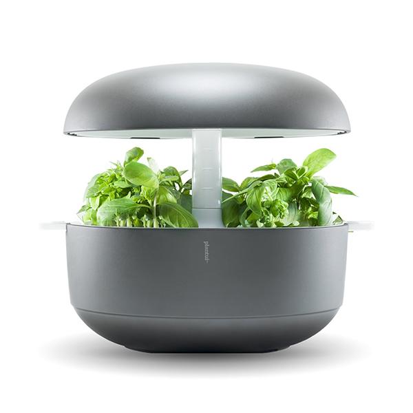"""<a href=""""http://www.plantui-italia.it"""">Plantui Smart Garden 6</a> è un giardino idroponico che permette di coltivare fino a sei piante contemporaneamente. È dotato di sistema intelligente automatico di luci e irrigazione che in 5/8 settimane permette al seme di svilupparsi completamente (269 euro)"""