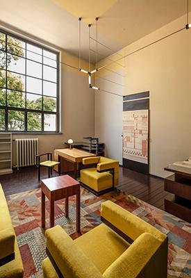 L'ufficio di Walter Gropius a Dessau, disegnato da lui stesso