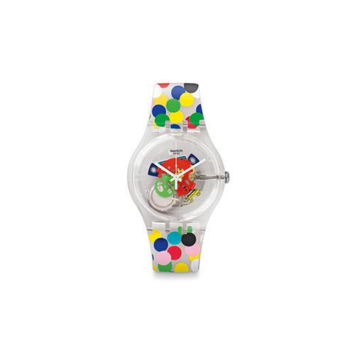 Spot the dot è l'orologio disegnato da Mendini per Swatch nel 2016