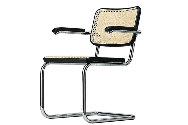 La sedia Cesca di Breuer/Stam, oggi prodotta da Thonet come S 32