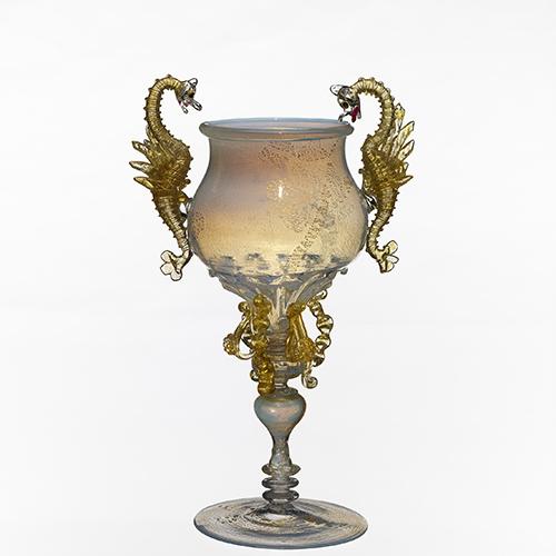 Goblet della The Venice & Murano Glass and Mosaic Co, 1880 circa