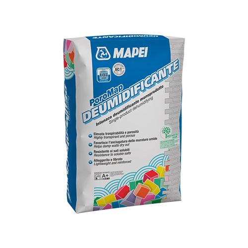 """<a href=""""https://www.mapei.com"""">Mapei</a>, produttore di materiali chimici per edilizia, propone nuove soluzioni e sistemi. Tra questi il Poromap deumidificante, un intonaco per tutti i tipi di murature sia interne che esterne soggette a umidità di risalita"""