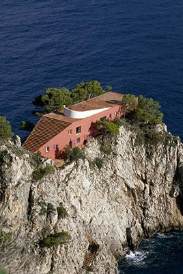Casa Malaparte di Adalberto Libera a Capri (foto Andrea Jemolo)