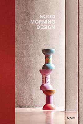 Per la copertina di Good Morning Design, Ceramica Flaminia sceglie lo sgabello Rocchetto disegnato da Alessandro Mendini