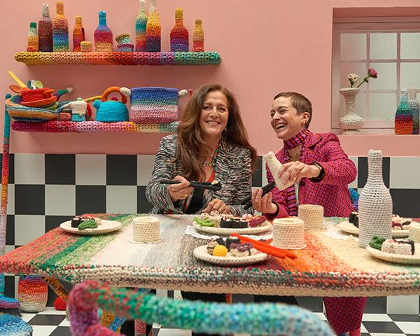 Angela Missoni e Alessandra Roveda hanno presentato una casa in cui tutto è sapientemente decorato all'uncinetto