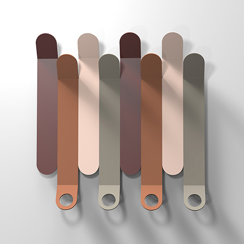 Pratico e colorato, Skyline è l'appendiabiti da parete disegnato da Archirivolto per Calligaris