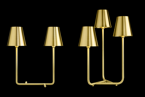 Trio, lampada in ottone – Ghidini 1961