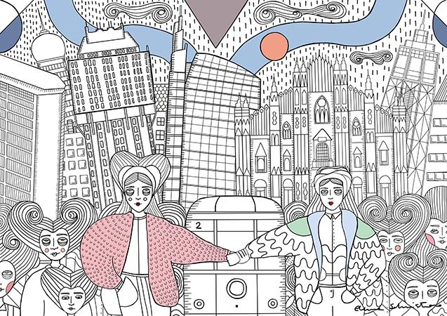 La personale visione della città di Milano di Elena Salmistraro