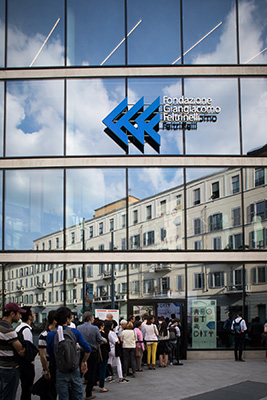 <em>About a city 2019 – Rethinking cities</em>, la rassegna promossa dalla Fondazione Giangiacomo Feltrinelli, si tiene nella sua sede di viale Pasubio 5 a Milano (foto Claudia Pajewski)