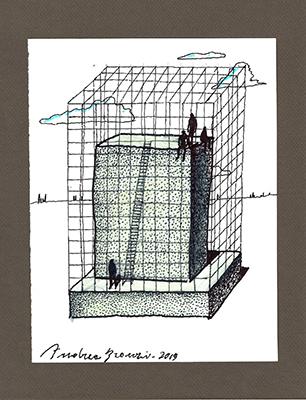 La mostra <em>Archetipi</em>nello schizzo di Andrea Branzi