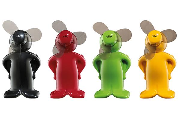 """Pratico e allegro: il mini ventilatore <em>Ventoboy</em> di <a href=""""http://www.cilio.de"""">Cilio</a> funziona a batterie (distribuito da Schoenhuber)"""
