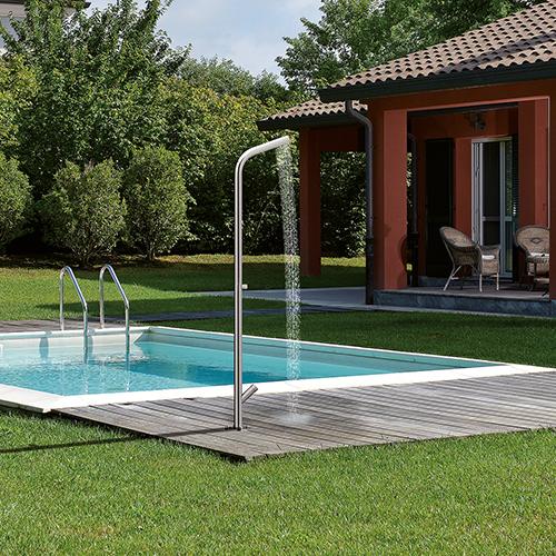 """La colonna doccia a pavimento <em>WX 511</em> di <a href=""""http://www.cristinarubinetterie.it"""">Cristina Rubinetterie</a> ha un sistema automatico di svuotamento acqua antigelo"""