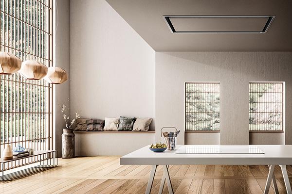 Illusion della linea Ceiling è la cappa a soffitto invisibile. Come suggerisce il nome Come suggerito dal nome, crea un'illusione visiva che la inserisce in modo perfettamente discreto nell'ambiente