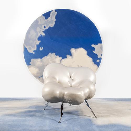 Zot, poltrona a forma di nuvola dello Studio65. Prototipo, collezione privata Franco e Nanà Audrito -  progetto del 2015. Base d'asta 3.300 euro
