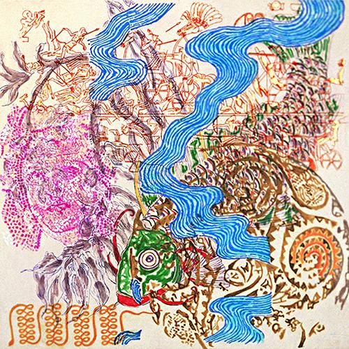 Nancy Graves <em>Time shapes the stalactites</em>, 1999 (courtesy 2RC Stamperia d'Arte)