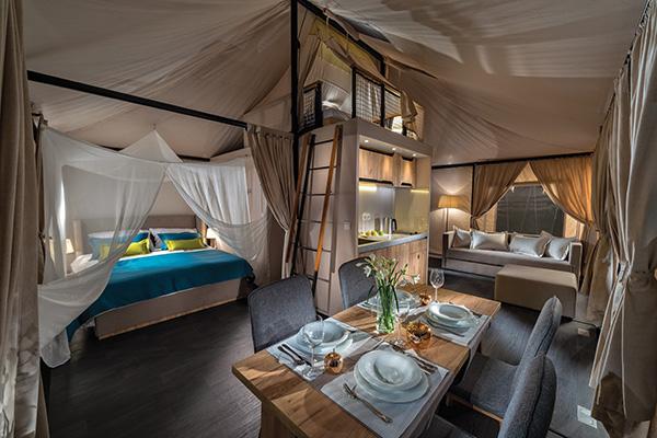 Le tende mobili <em>Boutique</em> di Adria per il glamping, il campeggio diventato glamour