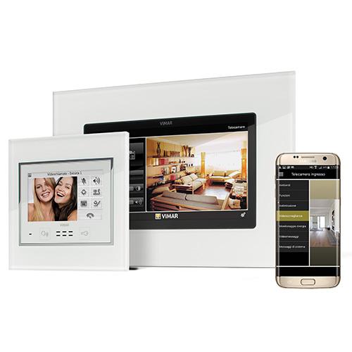 """By-alarm di <a href=""""http://www.vimar.com"""">Vimar</a> è un kit formato da telecamere, sirene di allarme, sensori di presenza e videocitofono gestibili con app"""