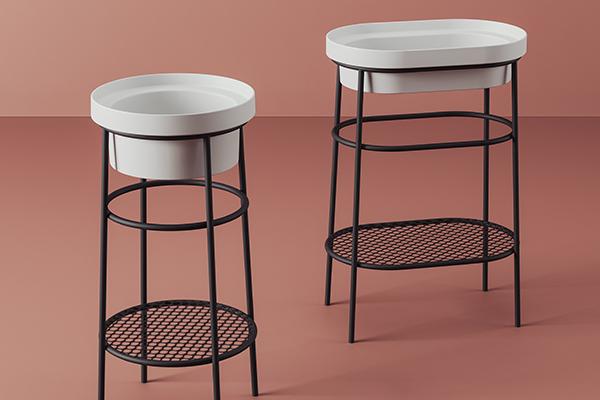 """FFATTORE NOSTALGIA / 3 - I lavabi si ispirano alle bacinelle e ai catini di una volta. Ad esaltare ancor più il loro fascino antico la scelta di poggiarli su strutture realizzate in tondino di metallo come nel caso di <em>Fuoriscala</em>, disegnato da Meneghello Paolelli Associati per <a href=""""http://www.artceram.it"""">The.ArtCeram</a>"""