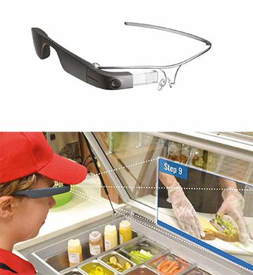 L'Innovation SMART Label va anche a EyeSucceed, l'occhiale smart di NSF International che mostra come realizzare una ricetta o ad esempio si accorge se non vengono indossati i guanti e ricorda che è necessario farlo durante la preparazione di un piatto