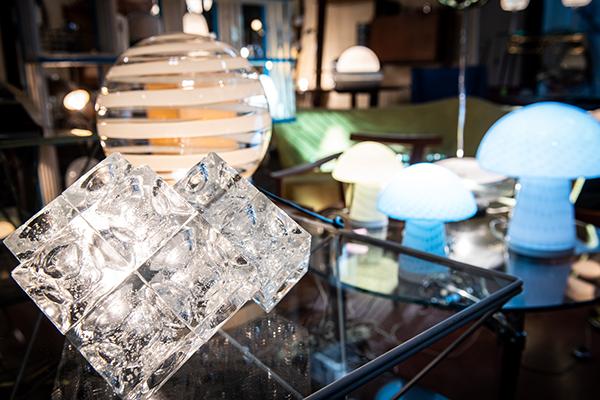 Lampada in cristallo di Poliart, anni Sessanta