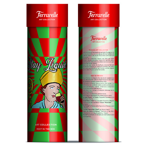 """<a href=""""http://www.ferrarelle.it"""">Acqua Ferrarelle</a> festeggia i 10 anni di Art Collection con un'edizione limitata firmata da Roxy in the Box. Supporta Fondazione Telethon"""