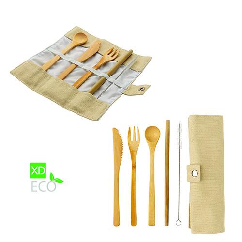 """Il set di posate riutilizzabili e biodegradabili <em>Bamboo</em> di <a href=""""http://www.maiuguali.it/"""">Maiuguali</a>"""