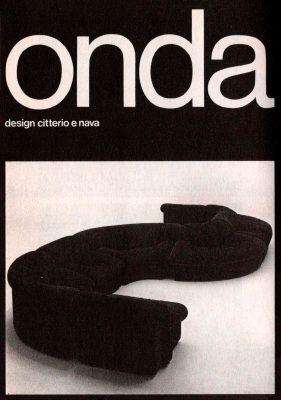 Onda, divano nato dalla collaborazione con i designer Antonio Citterio e Paolo Nava negli anni Settanta