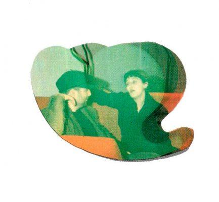Ron Arad, Soft Heard  Patrizia Moroso e Ron Arad inscritti in una sagoma di Soft Heart, designer Ron Arad