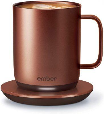 Ember Mug², è la prima tazza tecnologica di Ember. Mantiene caldo il tuo caffè e consente anche di impostare la temperatura di consumo esatta