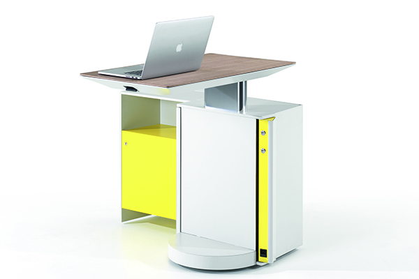 Altamente portatile e adatta ai diversi layout e configurazioni spaziali, Touch Down Unit è la working station di Studio Klass per UniFor. È ecologica e trasformabile in base alle proprie esigenze