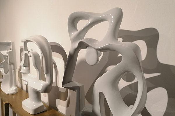 Ceramiche realizzate da Filadelfio su progetto architetti Barman per la mostra Barman architects inaugurata durante Venice Design Week 2019