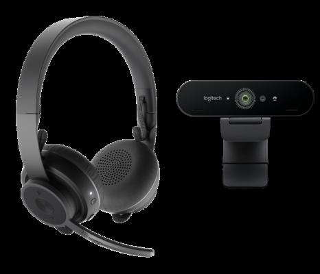 Tutto il potenziale Logitech della webcam C925e abbinata alla cuffia Zone Wireless con microfono bluetooth