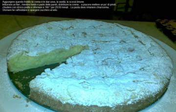 Crostata crema e riso