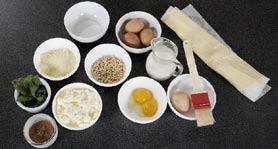 Torta al formaggio di capra, basilico e pinoli