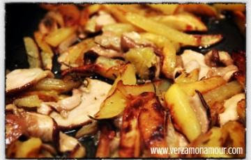 Ricette carne funghi e patate