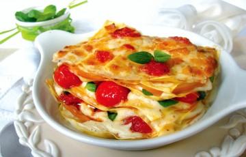 Lasagnetta con pachino e scamorza affumicata