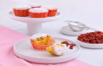 Muffin con mandarino e bacche di goji