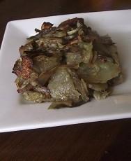 Tortino di carciofi,patate e scamorza