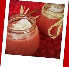 Smoothie alle fragole,lime e cocco