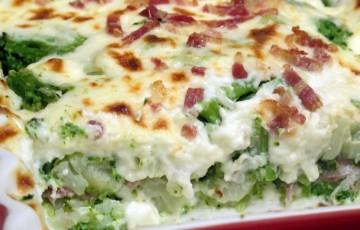 Gratin broccoletti, cavolfiori e pancetta