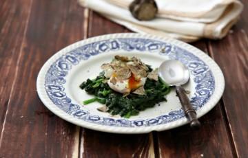 L'uovo a 65° con spinaci e tartufo
