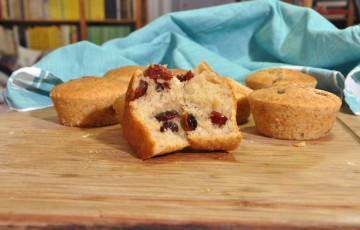 Muffin al latticello e cranberries senza glutine