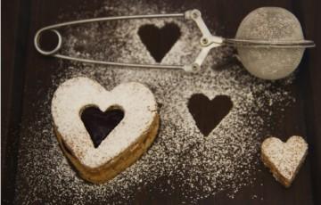 Linzer cookies per San Valentino
