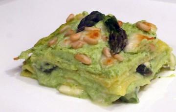 Lasagna aromatica crema di asparagi e ricotta