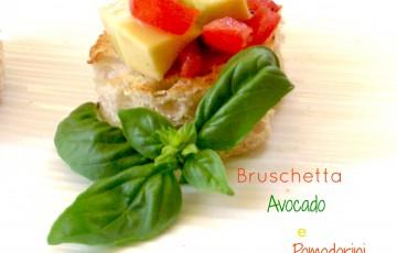 Bruschettine avocado e pomodorini